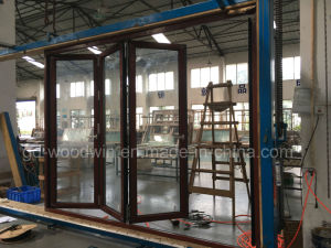 Customized Made Double Glazed Lowe Glass Balcony Folding Door/Bifolding Door pictures & photos