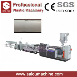 PVC Single Wall Corrugated Pipe Production Line pictures & photos