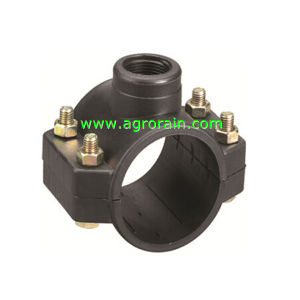 PP Compression Clamp Saddle for Irrigation Water Supply PE Pipe pictures & photos