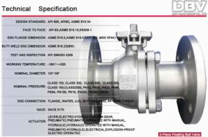 Industrial Worm Gear Trunnion Mounted Ball Valve pictures & photos