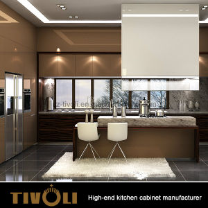 Modern High Gloss Lacquer Painting Wooden Kitchen Cabinet with Island pictures & photos
