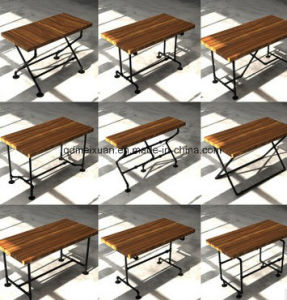 Retro Table Pipes Do Old Cafe Bars, Wrought Iron Table Office Book Leisure Food Bar Table (M-X3804) pictures & photos