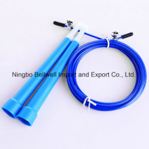 Crossfit Adjustable Cable Skipping Speed Jump Rope with Bearings for Double Unders pictures & photos