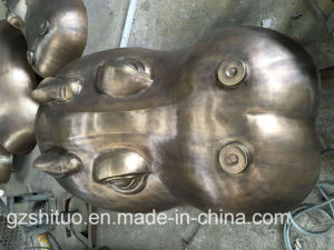 Gold Black Hippo Head Sculpture, Copper Blacksmithing, Outdoor Garden Decoration pictures & photos