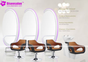 Popular High Quality Salon Furniture Mirror Barber Salon Chair (P2044E) pictures & photos