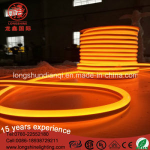 Ce RoHS Approved 12V Orange 100m/Roll Flexible LED Neon Light pictures & photos