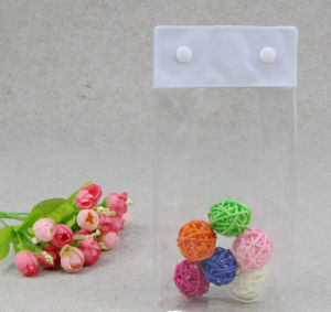 PVC Button Bag Transparent Plastic Storage Bag pictures & photos