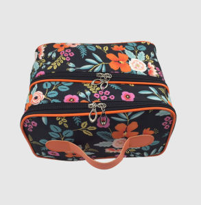 Microfiber Two Lays Cosmetic Bag for Women pictures & photos