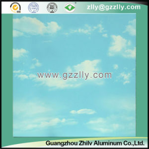 Nature Simulation Roller Coating Printing Ceiling for Indoor Decoration -Blue Sky and White Clouds pictures & photos