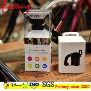 Custom Printing Logo Camera Hang Tag Paper Box with PVC Window/Clam pictures & photos