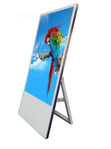 32-Inch Portable Floor Stand LCD Advertising Display for Hotel/Restaurant/Clothing Store pictures & photos