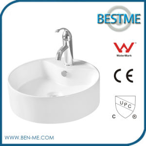 China Direct Sale Top Quality White Ceramic Bathroom Wash Sink pictures & photos
