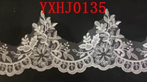 White Flat Embroidery Lace Fabric Manufacture for Lady Garments pictures & photos