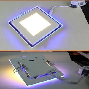 Square LED Panel Downlight 6W 12W 18W 24W Double Color pictures & photos