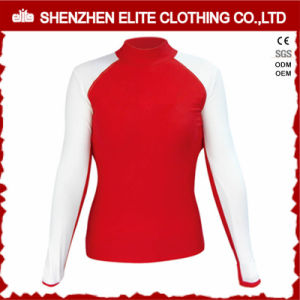 White and Red Long Sleeve Cheap Rashguards for Women (ELTRGI-48) pictures & photos