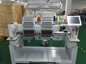 10 Inches Big Screen 2 Head High Speed Embroidery Machine Price pictures & photos
