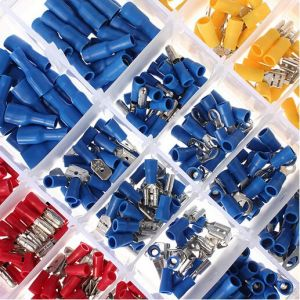 480PCS Assorted Insulated Electrical Wire Terminal Crimp Spade Connector Kit Box pictures & photos