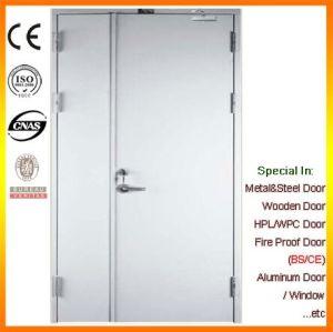 BS Certificate Unequal Double Steel Fire Door pictures & photos