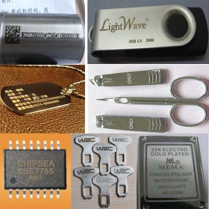 Laser Marking Machine for Rotating Marking on Metals pictures & photos