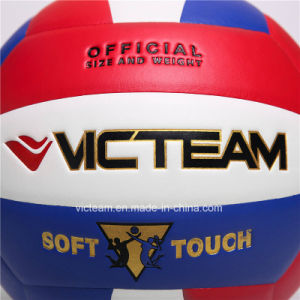 Top Class Regulation Size 5 Soft PU EVA Volleyball pictures & photos