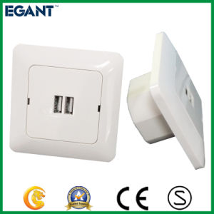 Ivory White Wall Socket with USB Ports pictures & photos
