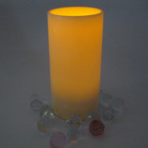 Big Amber Recycling Bar Decorative Smart Soft Light LED Pillar Candles with Timer Function pictures & photos