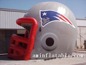 Custom Inflatable Sport Helmet Tunnel / Inflatable Football Helmet Tunnel