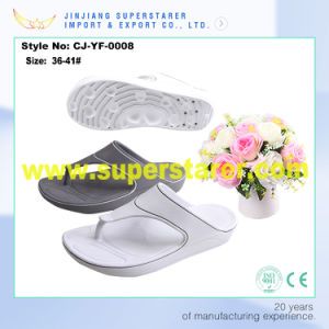 2017 Wholesale Personalized Logo Printed Cheap Ladies Custom Wedge EVA Flip Flops pictures & photos