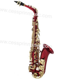 Hot Sell/Alto Saxophone /Color Saxophone / Woodwinds /Cessprin Music (CPAS005R) / Red pictures & photos