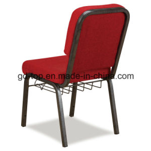 Red Fabric Steel Church Chair pictures & photos