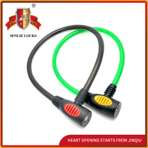 Jq8225 Two Colors Security Bicycle Lock Motorcycle Steel Cable Lock pictures & photos