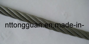 Linear Contact Galvanized Aircraft Cable 6*7+FC pictures & photos