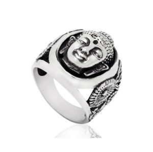 Retro 316L Buddha Casting Jewelry Ring for Man pictures & photos
