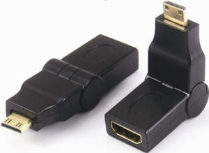 Mini HDMI Male to HDMI Female Adapter 180 Degree pictures & photos