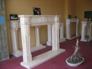 Marble Fireplace Mantel Granite Fireplace Surround for Home Decoration pictures & photos