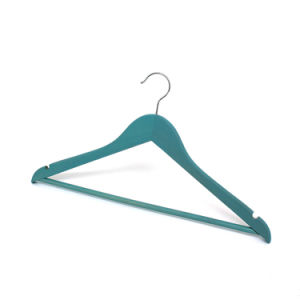 Basic Regular Natural Bar Wooden Hanger for Wholesale Wooden Clothes Hanger Hangers for Jeans pictures & photos