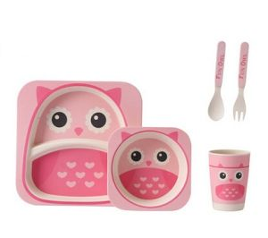 Eco-Friendly Bamboo Fiber Kids Dinnerware Sets (YK-BS1011) pictures & photos