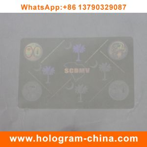 Transparent 3D Laser Security ID Card Overlay Hologram pictures & photos