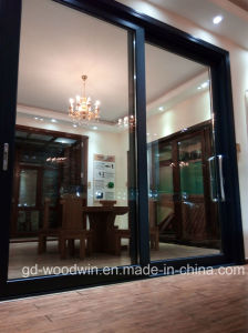 Guangdong Woodwin Hot Seller Double Tempered Glass Aluminium Sliding Door (YS-100A) pictures & photos