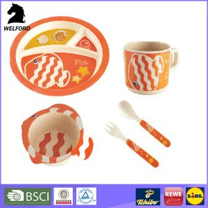 New Custom High Quality Bamboo Child Food Set pictures & photos