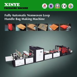 Fully Automatic Nonwoven Loop Handle Bag Making Machine pictures & photos