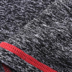 Women Melange Grey Gym Shorts with Flat Lock Stitching pictures & photos