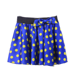 Girls Short Skirt Double-Deck Skirting with DOT Printed for Summer pictures & photos