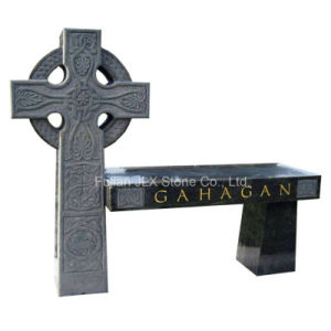 Granite Stone Cross Design Bench Monuments pictures & photos