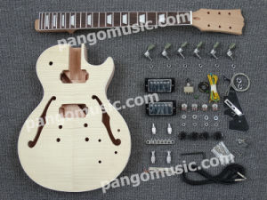Pango Lp DIY Electric Guitar Kit / DIY Guitar with Flamed Maple (PLP-618K) pictures & photos