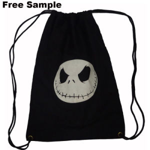 Durable Customized Printed Logo Cotton Canvas Drawstring Bag Backpack pictures & photos