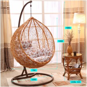 Modern Patio Garden Outdoor Home Hotel Office Leisure Dia5mm Wicker Hanging Chair (J808) pictures & photos
