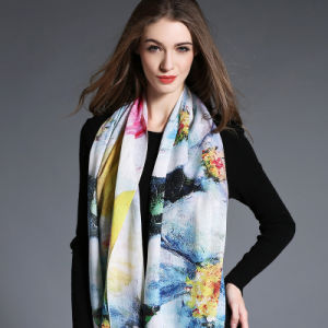 Digital Printing, Woolen Scarf for Women in Winter