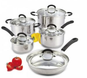 Kitchenware 10PCS Stainless Steel Cookware Set pictures & photos