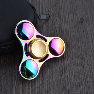 Wholesale Price Rainbow Colorful Fidget Spinner Hand Toys at Stock pictures & photos